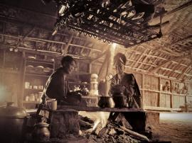 Breakfast in Konyak kitchen