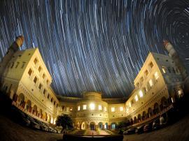 Star Trail over Sariska Palace