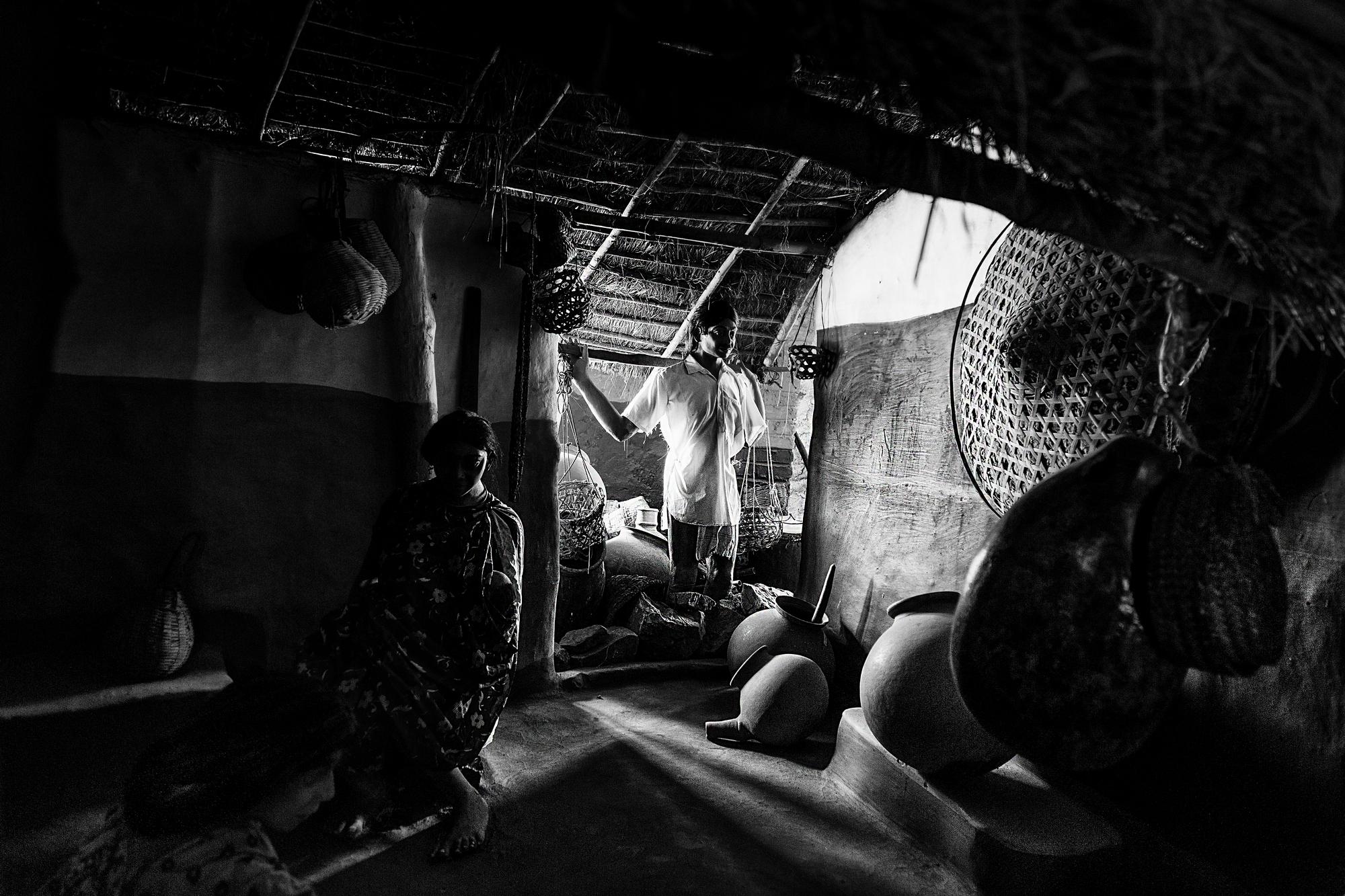 Model of a Tribal Home in Araku Valley, Andhra Pradesh