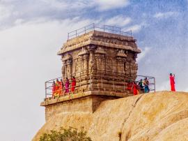 Rock Top Temple at Mahabalipuram