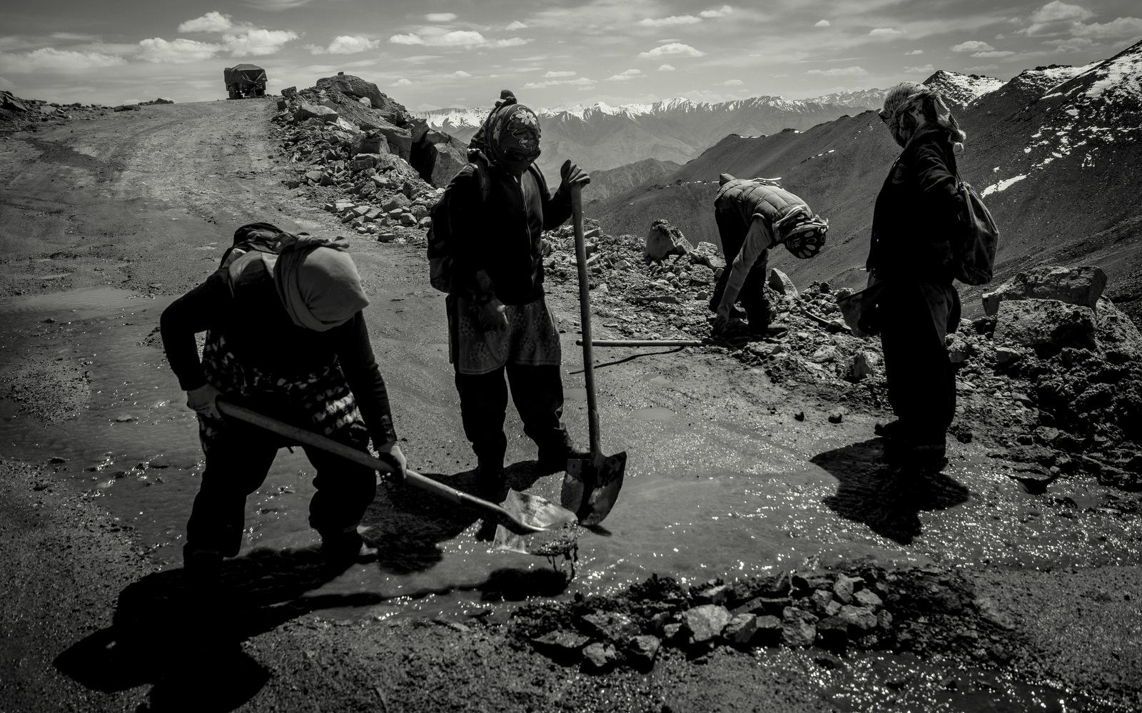 Women clearing staff