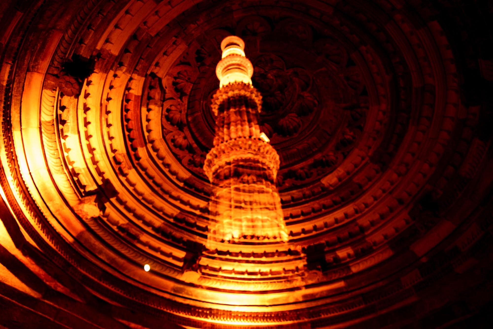 Qutub Minar in night